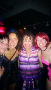 Me with some of the Go Go Girls and the party's organizer on the left.